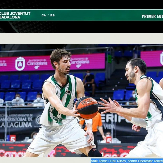 Ante Tomić i Pau Ribas protiv Iberostar Tenerifa