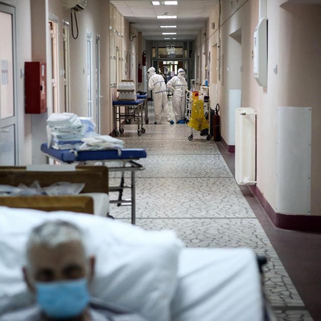 Prizor iz Instituta za ortopediju Banjica u Beogradu koji je pretvoren u Covid bolnicu