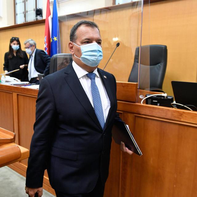 Ministar zdravstva Vili Beroš u Saboru