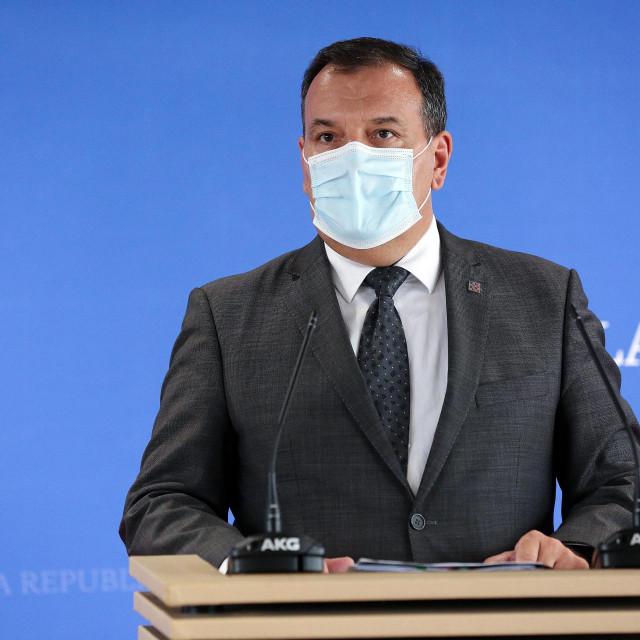 Zagreb, 291020.<br /> Press konferencija ministra zdravstva Vilija Berosa.<br />