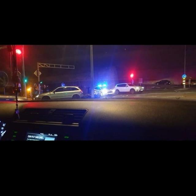 Prometna nesreća na semaforima kod skretanja za Lidl