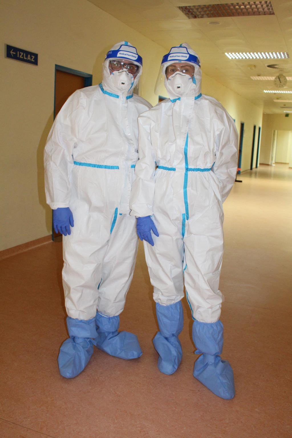 Voditelj bolničkog Odjela za infektologiju dr. Stijepan Đuričić i infektolog dr. Antonela Salvia Miloš