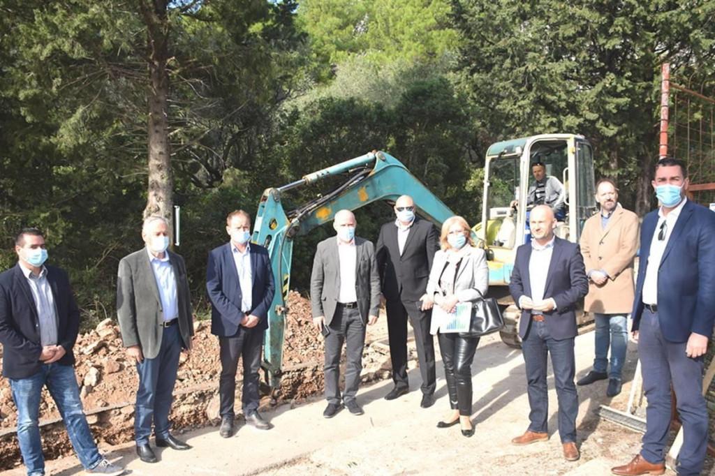 Obilazak radova u Orebiću i nove zgrade PŠ Lovište