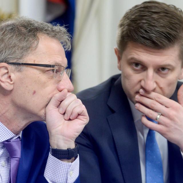 Guverner Vujčić i ministar Marić u ugodnom razgovoru