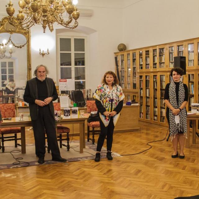Fra Ivan Kramar, akademik Luko Paljetak, Katja Bakija, Marija Grazio i Katarina Palinić