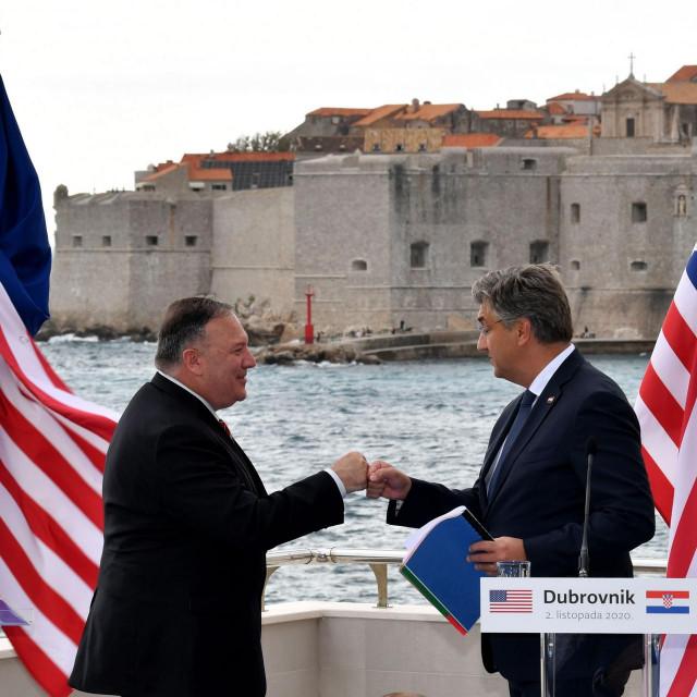 Drugog dana listopada Mike Pompeo se u Dubrovniku susreo s premijerom Plenkovićem