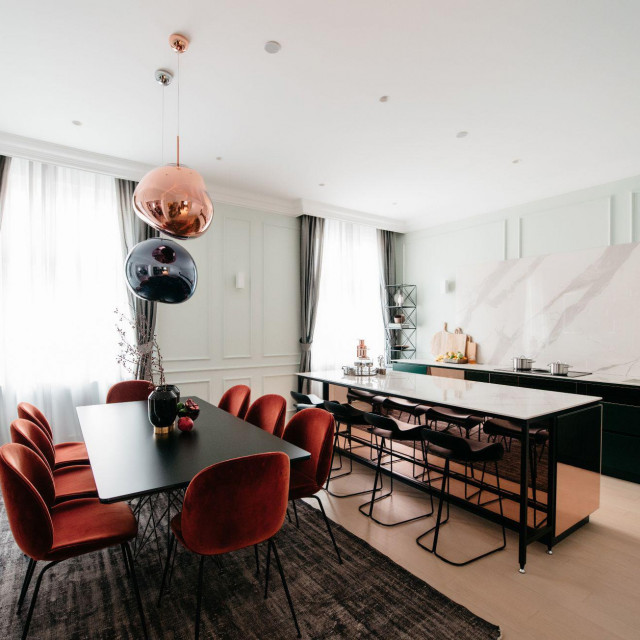 Kuhinja i blagovaonica iz stana za koji je Mirjana Mikulec dobila nagradu BigSEE<br />