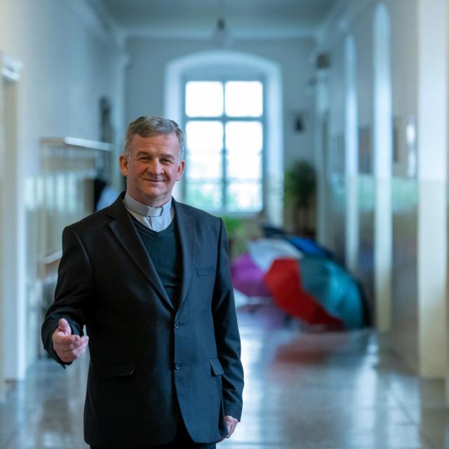 Don Josip Lebo, ravnatelj Biskupijske klasične gimnazije Ruđera Boškovića u Dubrovniku