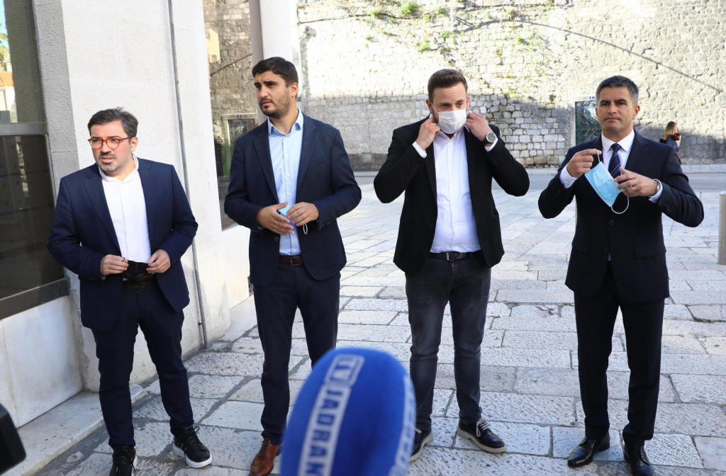 Stipe Čogelja, Domagoj Maroević, Ivica Kusić i Vice Mihanović