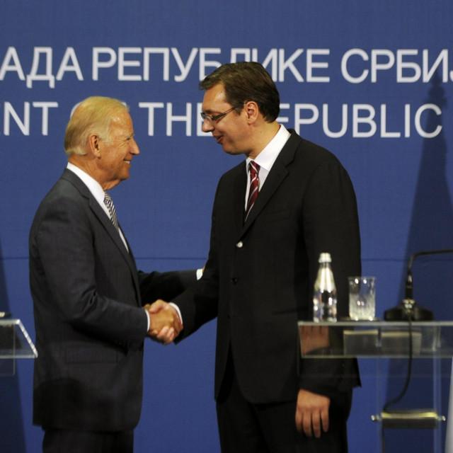 Joe Biden i Aleksandar Vučić