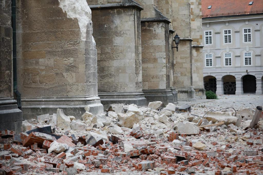 Prizori zagrebačkog potresa od 22. ožujka ove godine