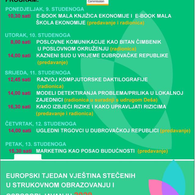 Ekonomska i trgovačka škola u Dubrovniki i ove godine obilježava Europski tjedan strukovnog obrazovanja.