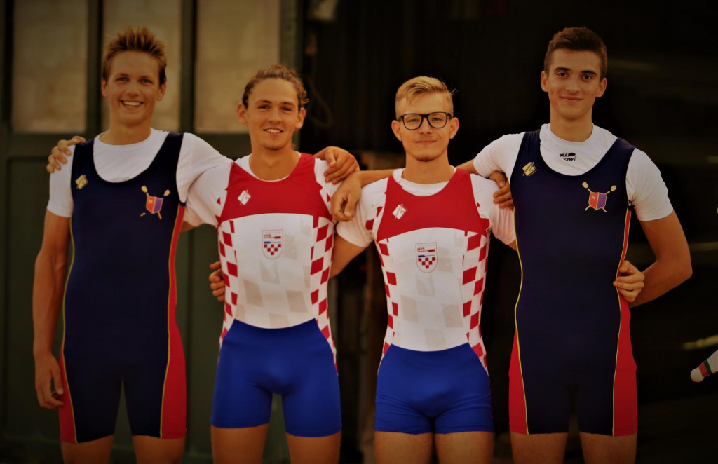 Roko Mucić, Toni Crnjak, Lovro Čondrić i Antonio Štrman, veslači Neptuna foto: Tonči Vlašić