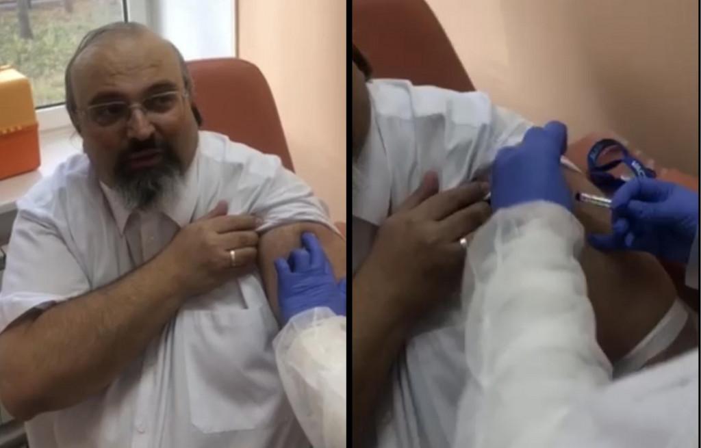 Profesor Sergej Boljević prima cjepivo