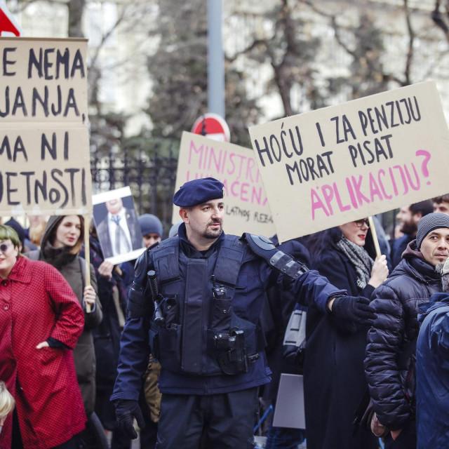 Poruke s prošlogodišnjeg prosvjeda ispred Ministarstva kulture i medija dobile su na aktualnosti