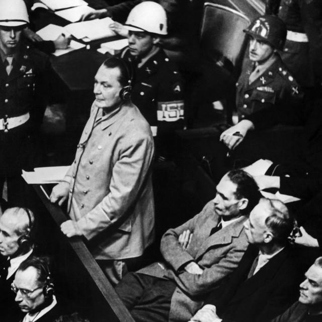 Hermann Goering na suđenju u Nuernbergu<br />