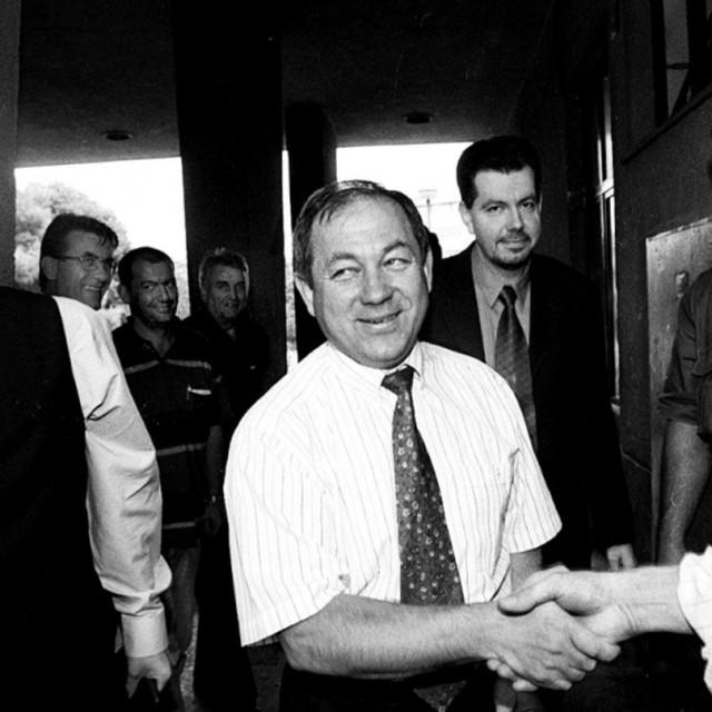 Merčep među splitskim pravašima u listopadu 1999. godine