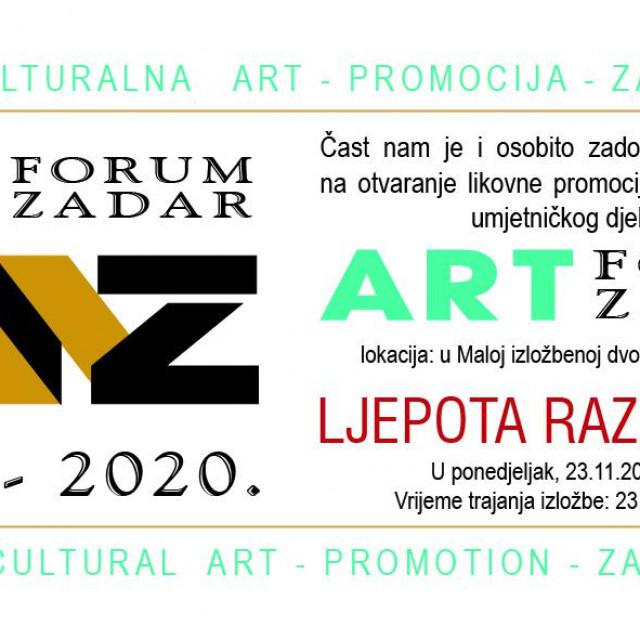 Izložba 14. INTERKULTURALNA ART – PROMOCIJA – ZADAR 2020. - Ljepota različitost