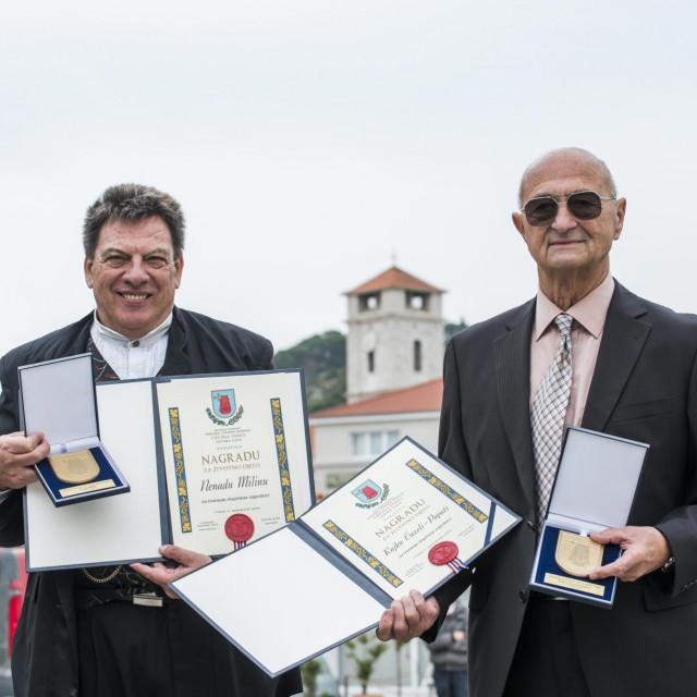 Nenad Milin i Rajko Ćuzela Papata, dobitnici Nagrade za zivotno djelo<br />