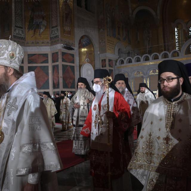 Obred u hramu Svetog Save u povodu smrti patrijarha SPC-a Irineja