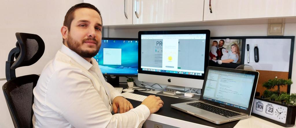 Dejan Grepo, autor aplikacije e-Limun<br />