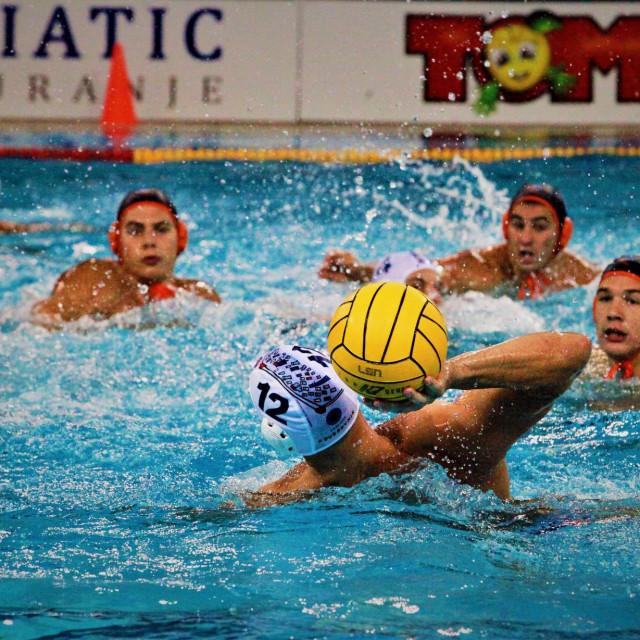 Prva hrvatska liga, 4. kolo: Jug AO - Solaris (Paulo Obradović postiže pogodak) foto: Tonči Vlašić