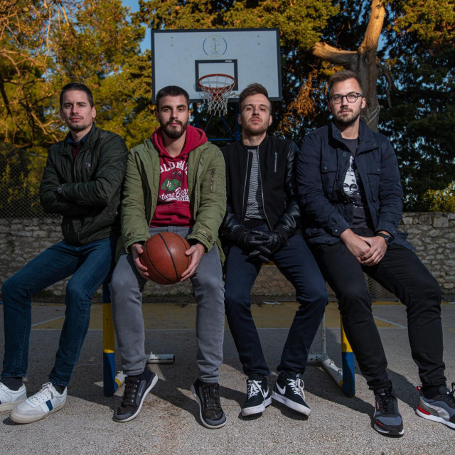 Josip Mičić, Antonio Sičić, Nino Šimunov, Marko Telak - ekipa koja stoji iza košarkaškog portala Eurostep.hr<br />