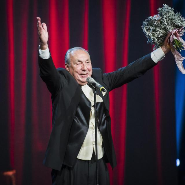 U Hrvatskom narodnom kazalištu u Zagrebu 2014. je na Nagradama hrvatskog glumišta dobio nagradu za svekoliko umjetničko djelovanje<br /> Neja Markičević/CROPIX