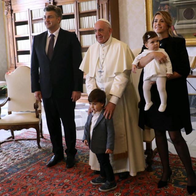Obitelj Plenković i Sveti otac