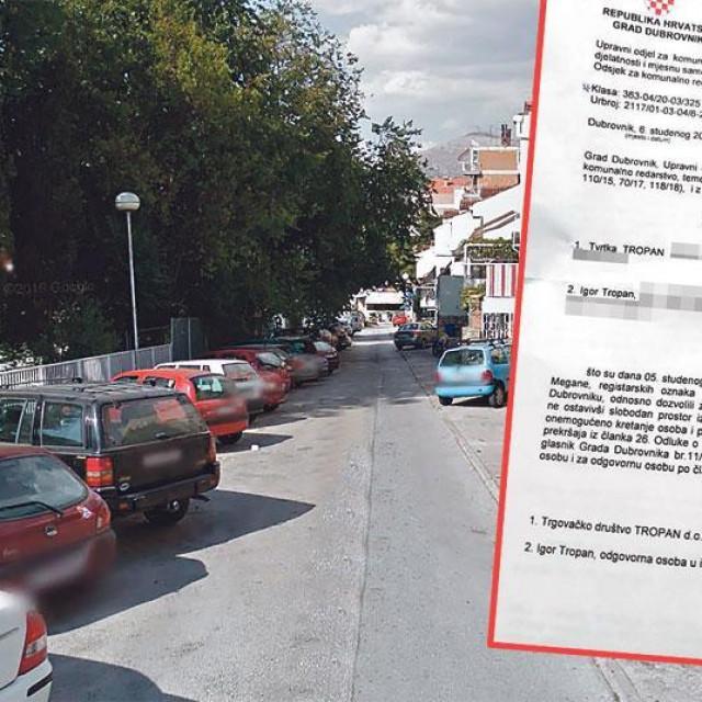 Kazna za parking u Čokolinu