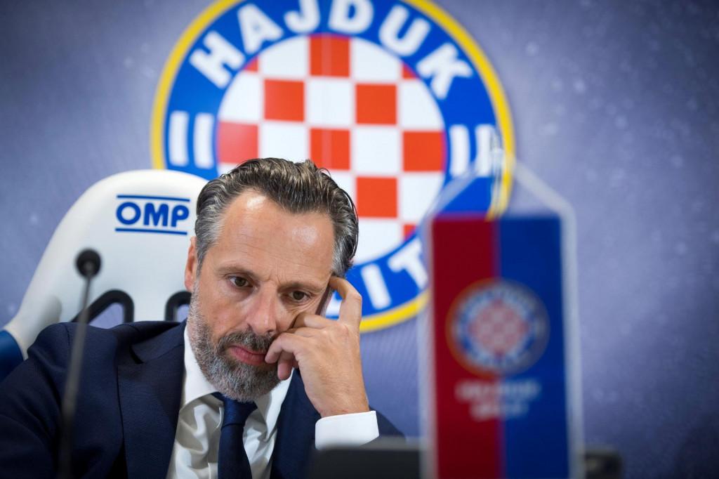 Lukša Jakobušić, predsjednik Uprave HNK Hajduk (Split) foto:Ante Čizmić / CROPIX