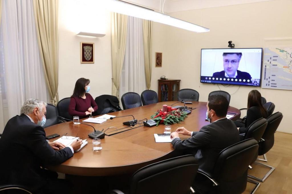 Župan Dobroslavić sudjelovao na redovnom sastanku Vlade sa županima i predstavnicima gradova i općina