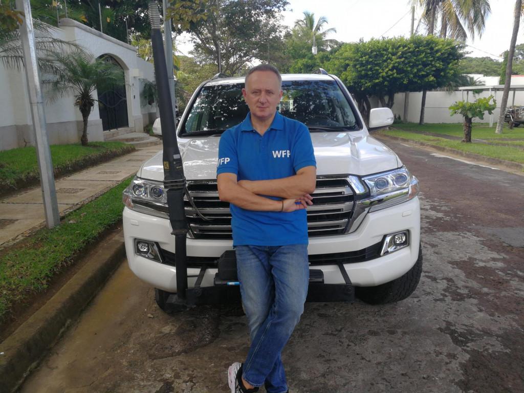 U Svjetskom programu za hranu Mikelić radi od 2017. godine, na poziciji regionalnog humanitarnog savjetnika u Regionalnom uredu WFP-a u Panami