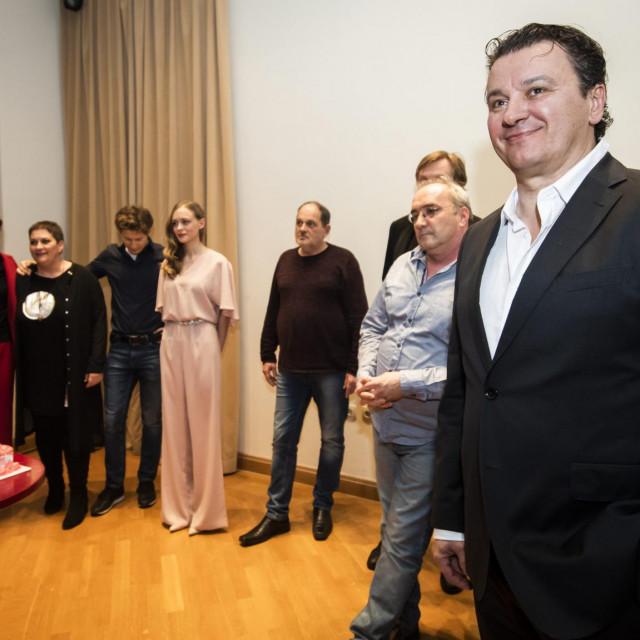 <br /> Boris Svrtan u Hrvatskom narodnom kazalistu Sibenik nakon premijere Krležine Lede koju je Svrtan režirao za šibenski teatar<br />