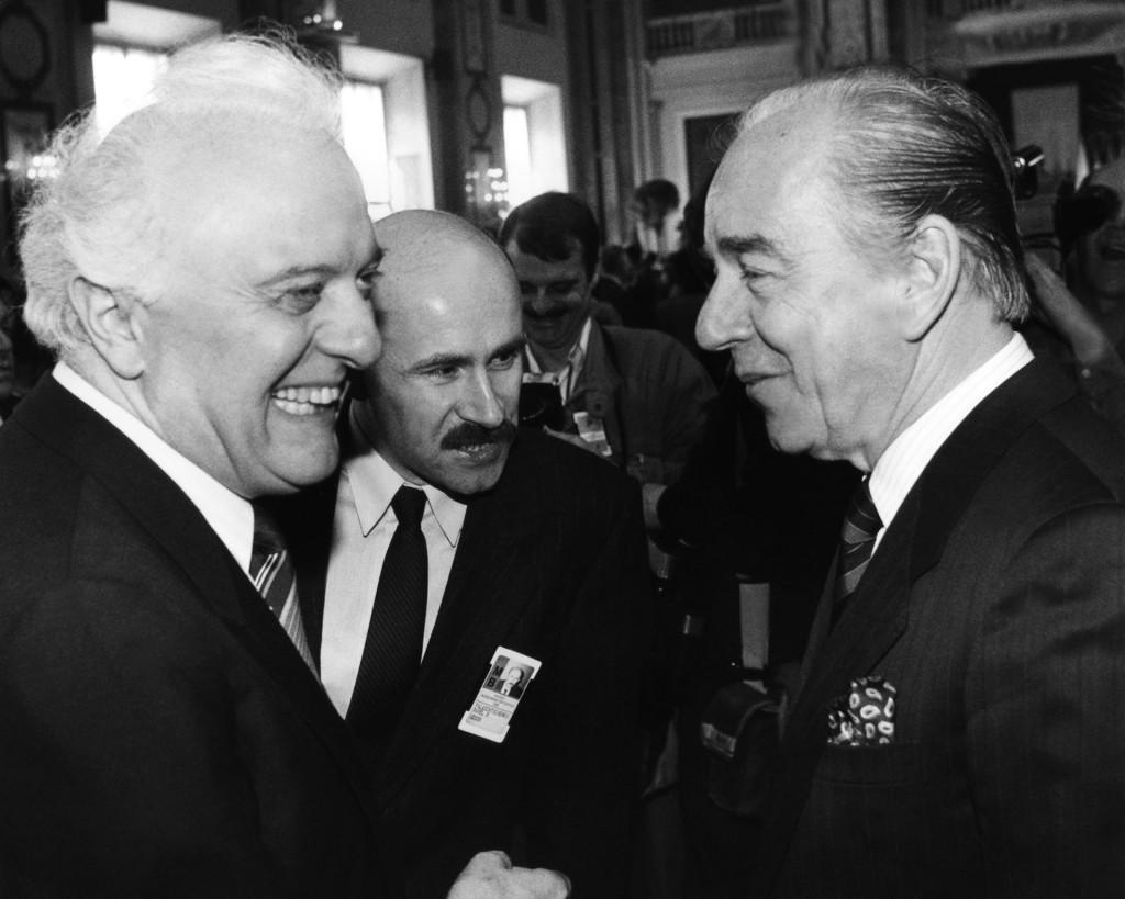 Eduard Shevardnadze i Budimir Lončar