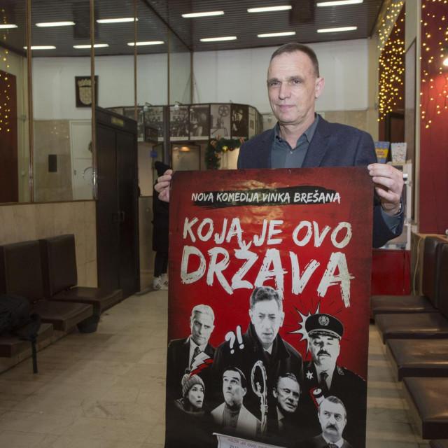 Vinko Brešan na splitskoj premijeri