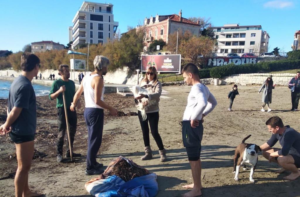Čišćenje plaže od lažine