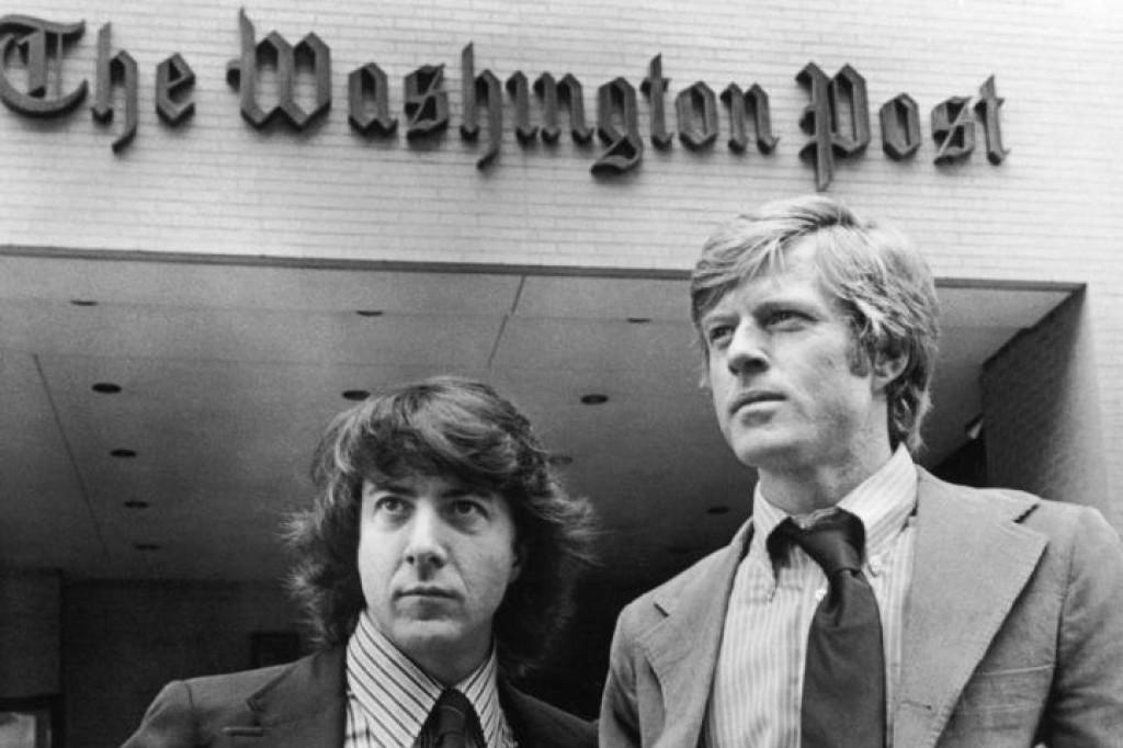 "Dustin Hoffman i Robert Redford kao Carl Bernstein i Bob Woodward u klasiku ""Svi predsjednikovi ljudi"""