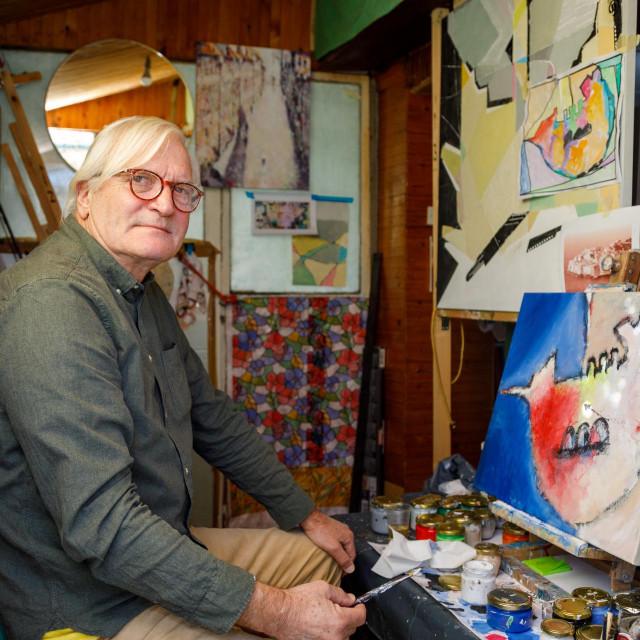 Miro Stamatović u svom ateljeu na Montovjerni