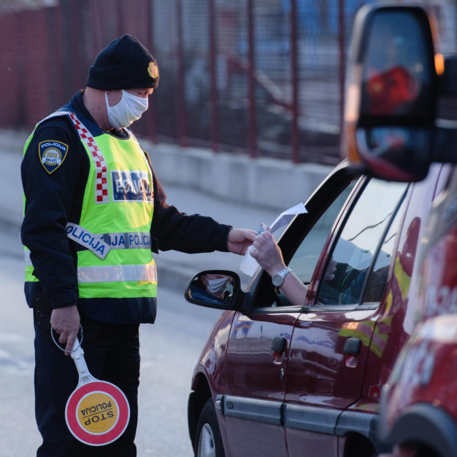 Policija će ponovno pregledavati propusnice: ovako je to izgledalo u travnju