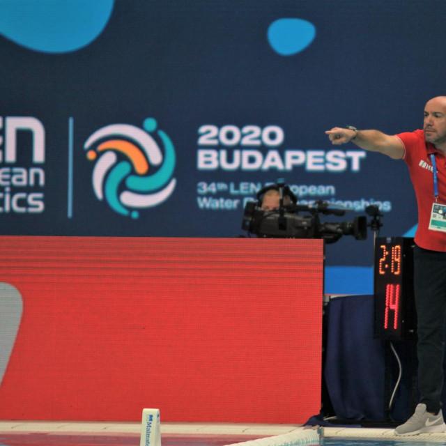 Ivica Tucak, hrvatski izbornik na Europskom prvenstvu 2020. u Budimpešti foto: Tonči Vlašić