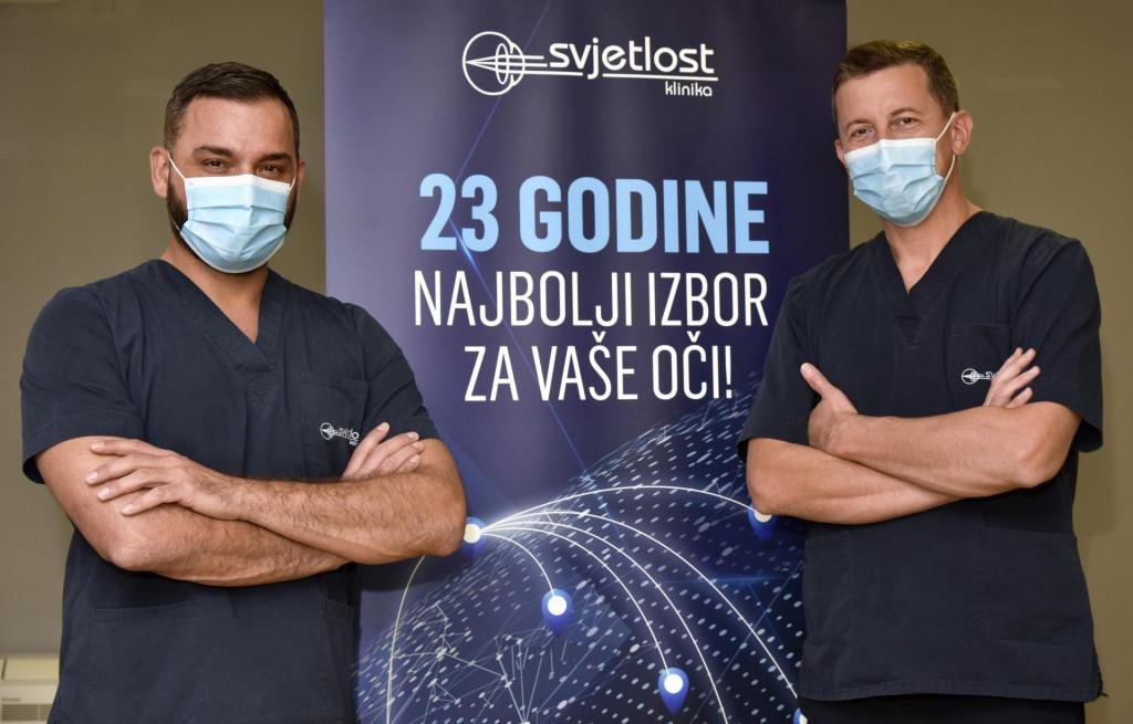 Dr. Adi Pašalić i dr.Vlade Glavota - oftalmolozi Svjetlosti u Splitu