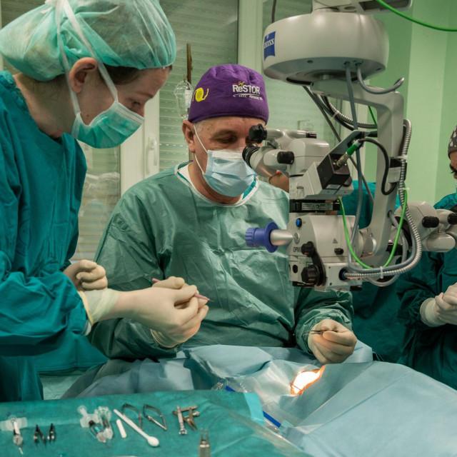 Prvi operacijski zahvat transplantacije rožnice na Klinici za očne bolesti KBC-a Split