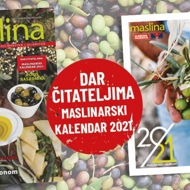 Dar čitateljima maslinarski kalendar za 2021. godinu
