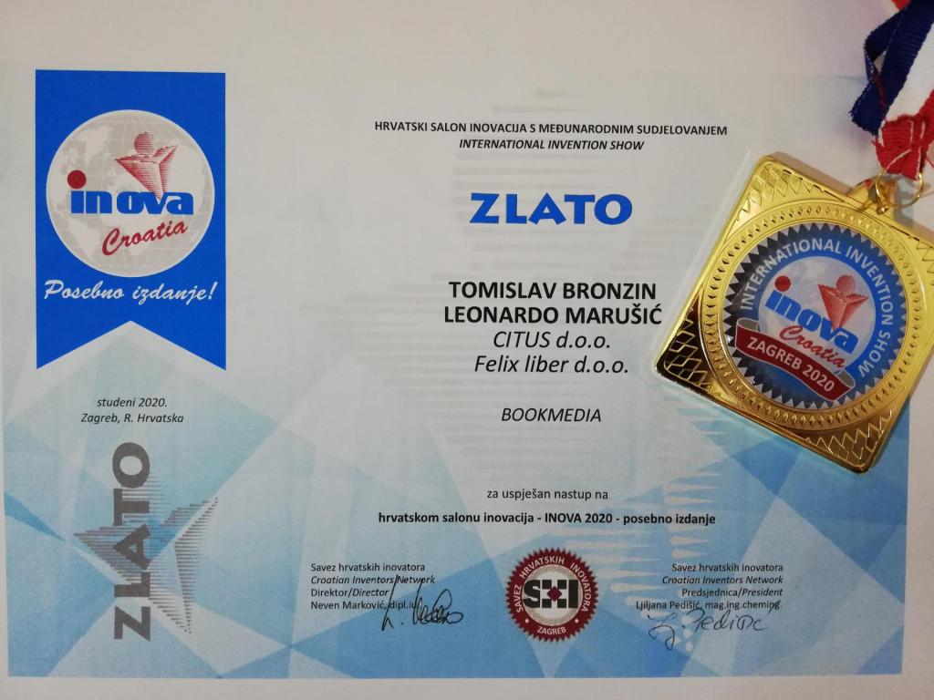 Tvrtka CITUS nagrađena je na izložbi INOVA 2020