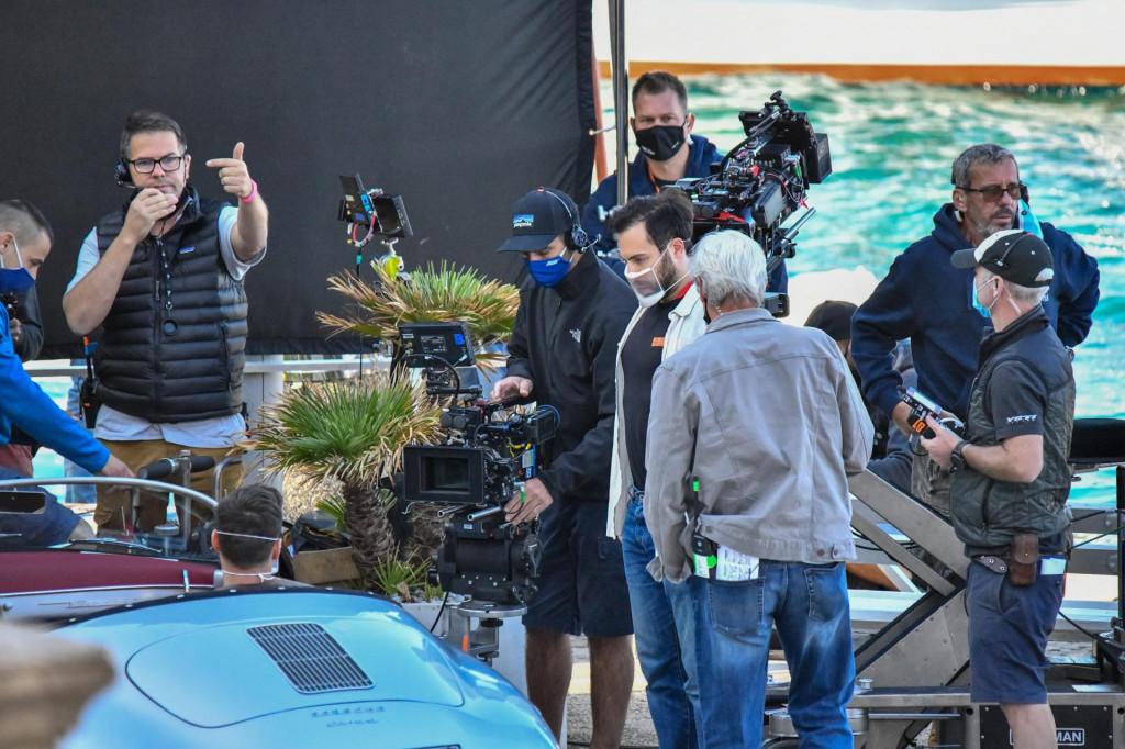 Snimanje filma 'The Unbearable Weight of Massive Talent' na cavtatskoj rivi, s Nicolasom Cageom i Pedrom Pascalom