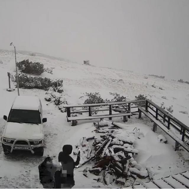 Kamare MeteoDinare snimile su prvi obilniji snijeg ove zime