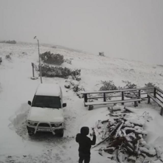 Kamare su zabilježile prvi obilniji snijeg ove zime