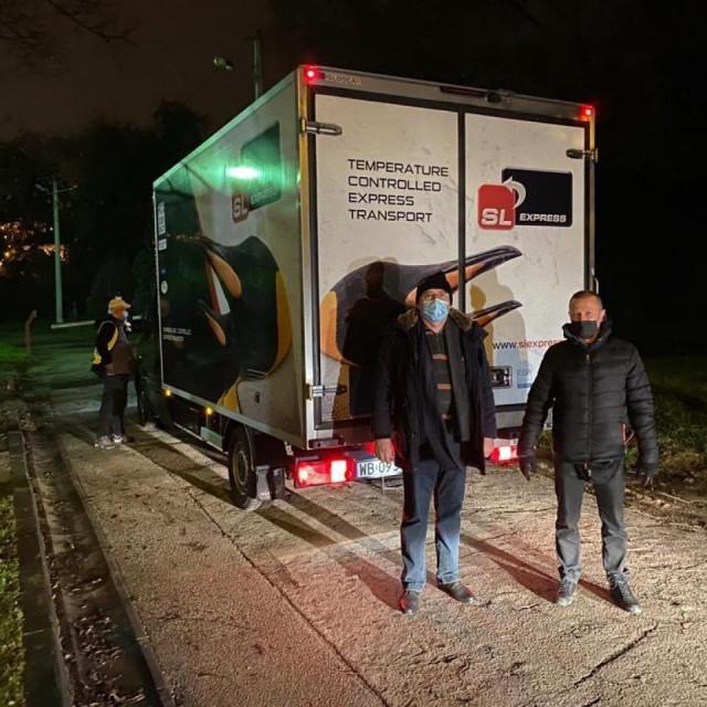 Kamion kojim je dovezeno cjepivo u Hrvatsku