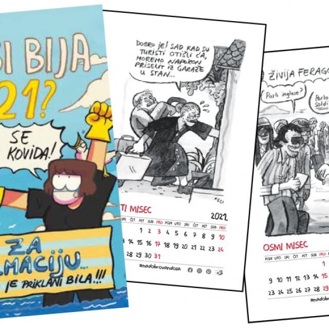Svi mjeseci u kalendaru za protagoniste imaju stanovnike Dalmacije u situacijama kakve su bile prije pandemije